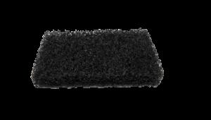 Küürimisplaat 15x9 cm must