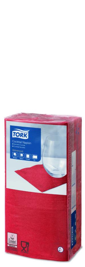 Tork_2-kihilised_kokteilisalvrätikud_Punane_1/4_200tk