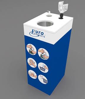 Euro desojaam koos 1L pumbaga pudeli, paberi hoidja ja prügikasti avaga